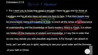 To Build and Protect - Colossians 2:1-5 Bible Study
