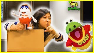 Kinder Eggs Hunt for Ryan ToysReview and Hide and Seek + NEW CHANNEL The Studio Space!