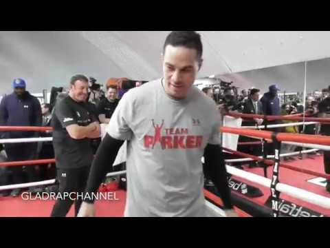 Full Media Workout: Joseph Parker during a training session at David Haye's Hayemaker Gym in London