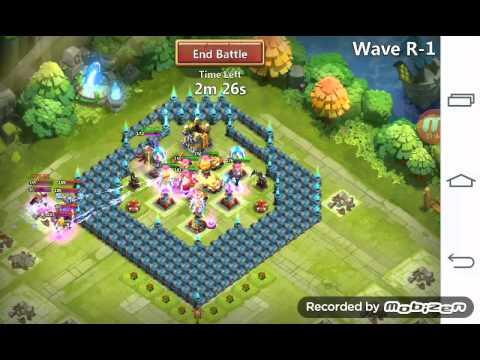 Castle Clash: Best Base To Farm Hbm R