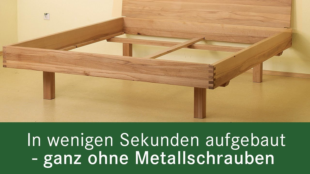 Allnatura Betten aufbauvideo metallfreies bett salerno