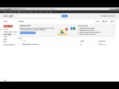 Creating a templates folder for students in Google Drive mp4