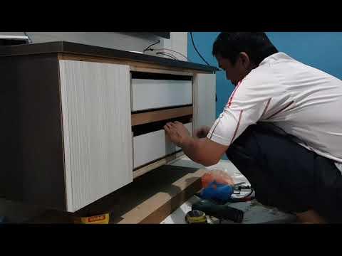 Cara Memasang Panel Engsel Pintu Bulat Pada Rak Tv Kabinet Tv