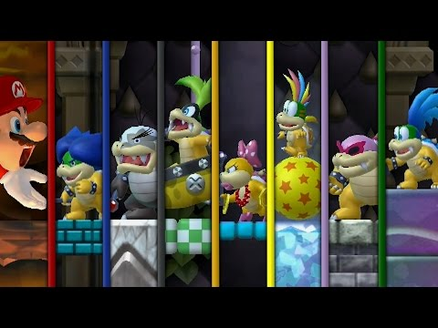 Thumbnail: New Super Bowser Wii - All Castles (Bowser VS Koopalings and Evil Mario)