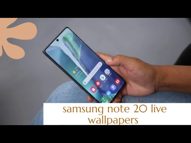 Download Samsung Galaxy Note 20 Note Ultra Live Wallpapers بإذن الله نجاح Youtube