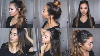 vuclip EASY + CUTE HAIRSTYLES FOR SCHOOL UNDER 5 MINUTES! | Maria Bethany