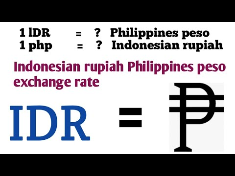 Indonesian Rupiah To Philippines Peso Exchange Rate Today | Rupiah To Php | Idr To Php | Php To Idr
