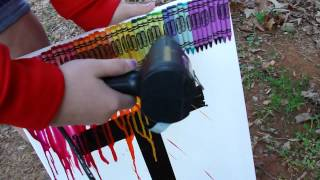 Crayola Melting Crayon Art Tutorial