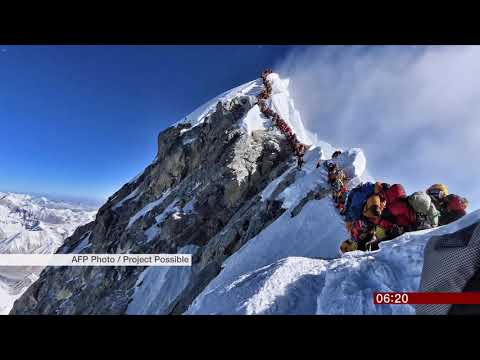 Rush hour at Mount Everest summit (Himalayas) – BBC News – 24th May 2019