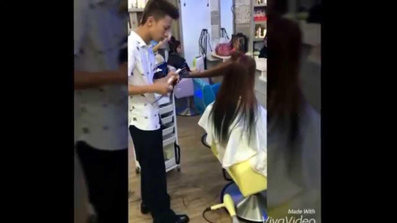 葵妮精緻沙龍 羅恩剪髮 羅恩現在在小雨髮型 - YouTube