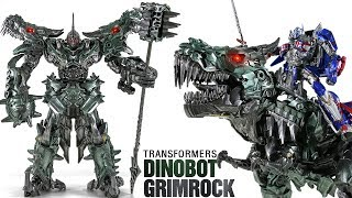 Tranformers DinoBot GrimRock Black Mamba LS05 Ancient Leader Toy Transformation