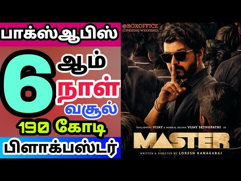 Thalapathy Vijay Master Movie 6th Day Worldwide Box Office Collection Report Status - Hit or Flop?