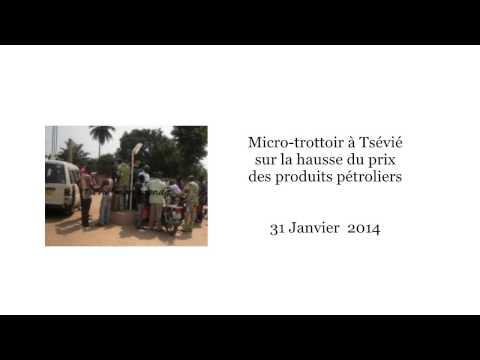 Micro-trottoir à Tsévié sur la hausse du prix des produits pétroliers [31/1/14]