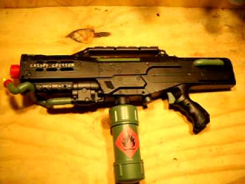 Nerf Cs 6 Longshot Converted To Prop Flamethrower Youtube
