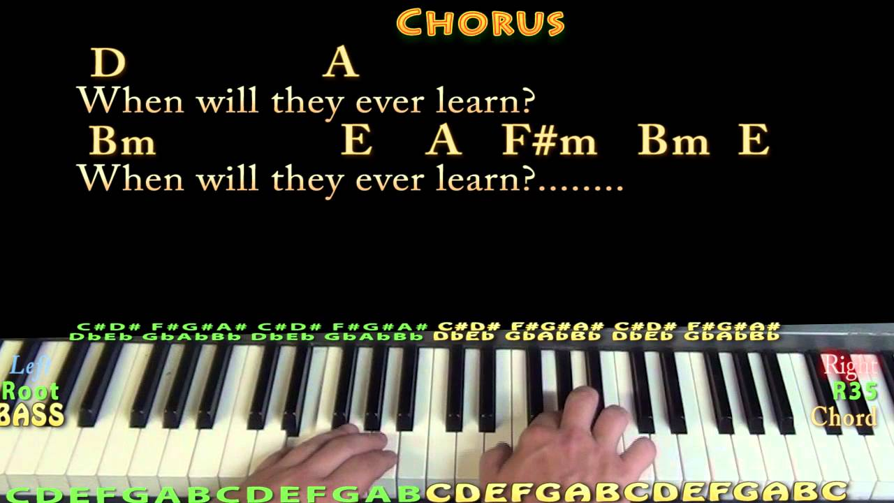 Where Have All The Flowers Gone Pete Seeger Piano Cover Lesson