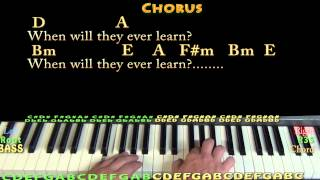 Where Have All the Flowers Gone (Pete Seeger) Piano Cover Lesson with Lyrics