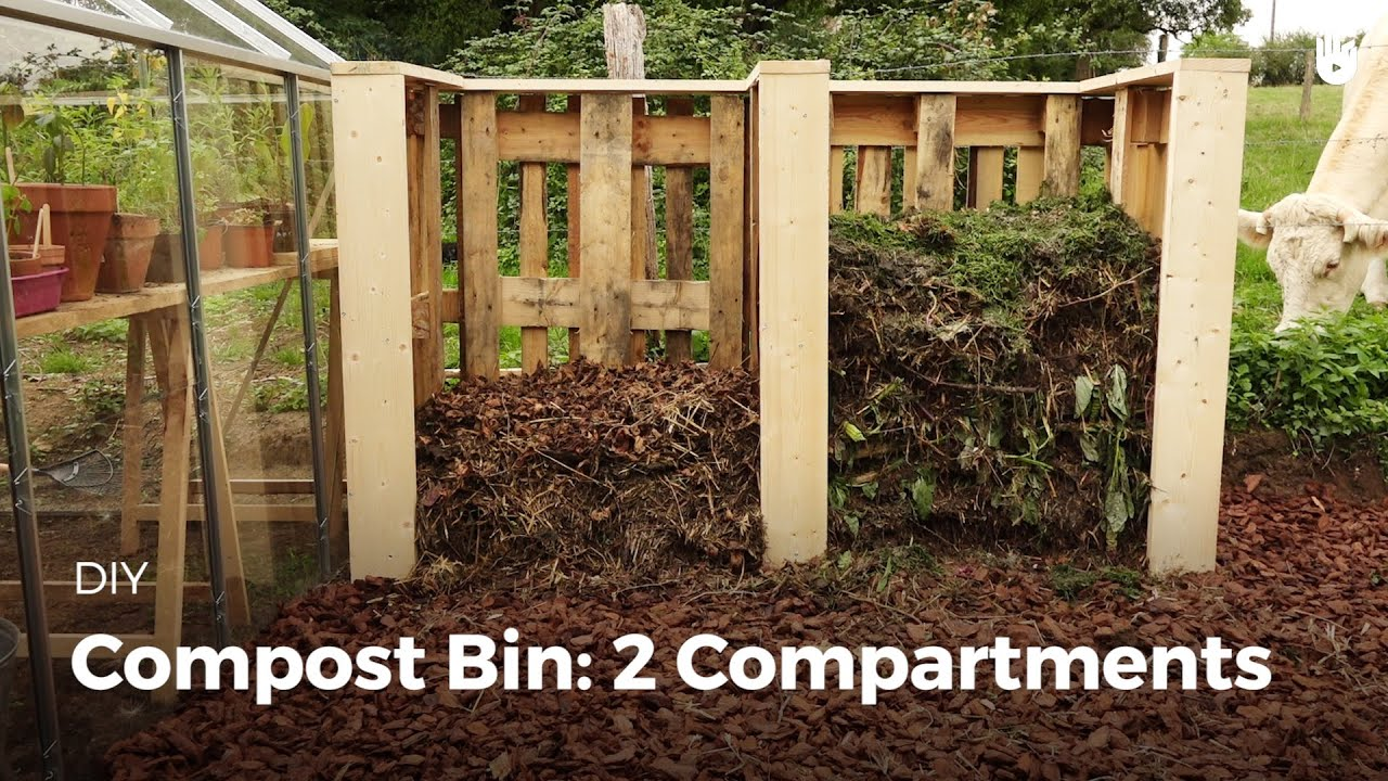 compost bin 2 compartments youtube. Black Bedroom Furniture Sets. Home Design Ideas