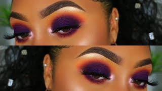 EASY PURPLE FALL SMOKEY EYE | Makeup Tutorial