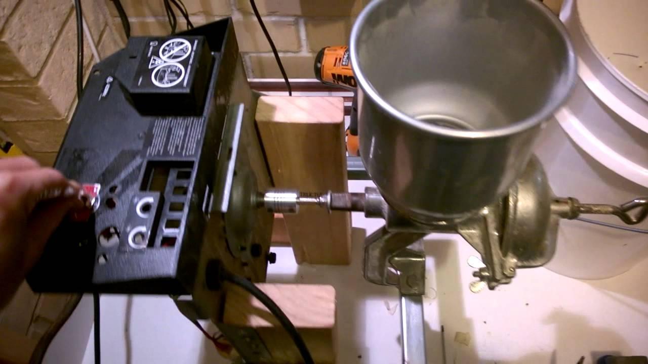 Corona / Victoria malt mill garage door motor build part 2