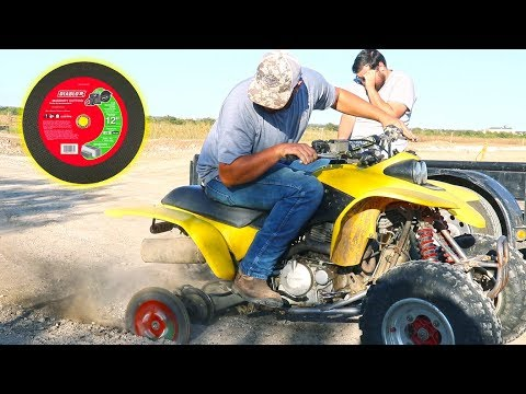 ATV with Concrete Cutting Wheels