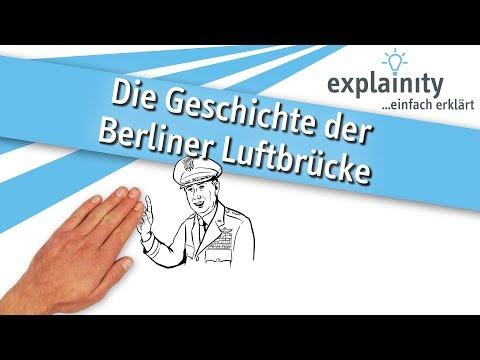 Die Geschichte der Berliner Luftbrücke einfach erklärt (explainity® Erklärvideo)
