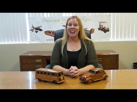 VW bus and bug wood models