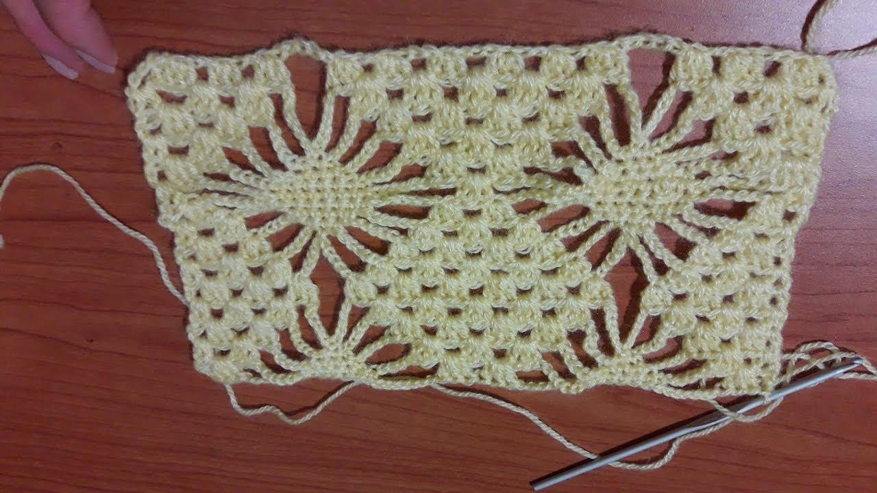 Uncinetto Crochet Punto A Rombi Prima Parte Youtube