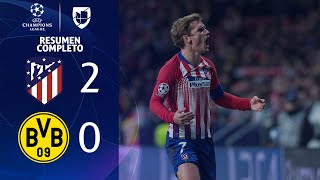 Atlético de Madrid 2-0 Borussia Dortmund  - GOLES Y RESUMEN - Grupo A - UEFA Champions League