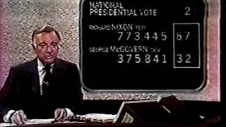 Election Night 1972 Coverage CBS News 7:00-7:30