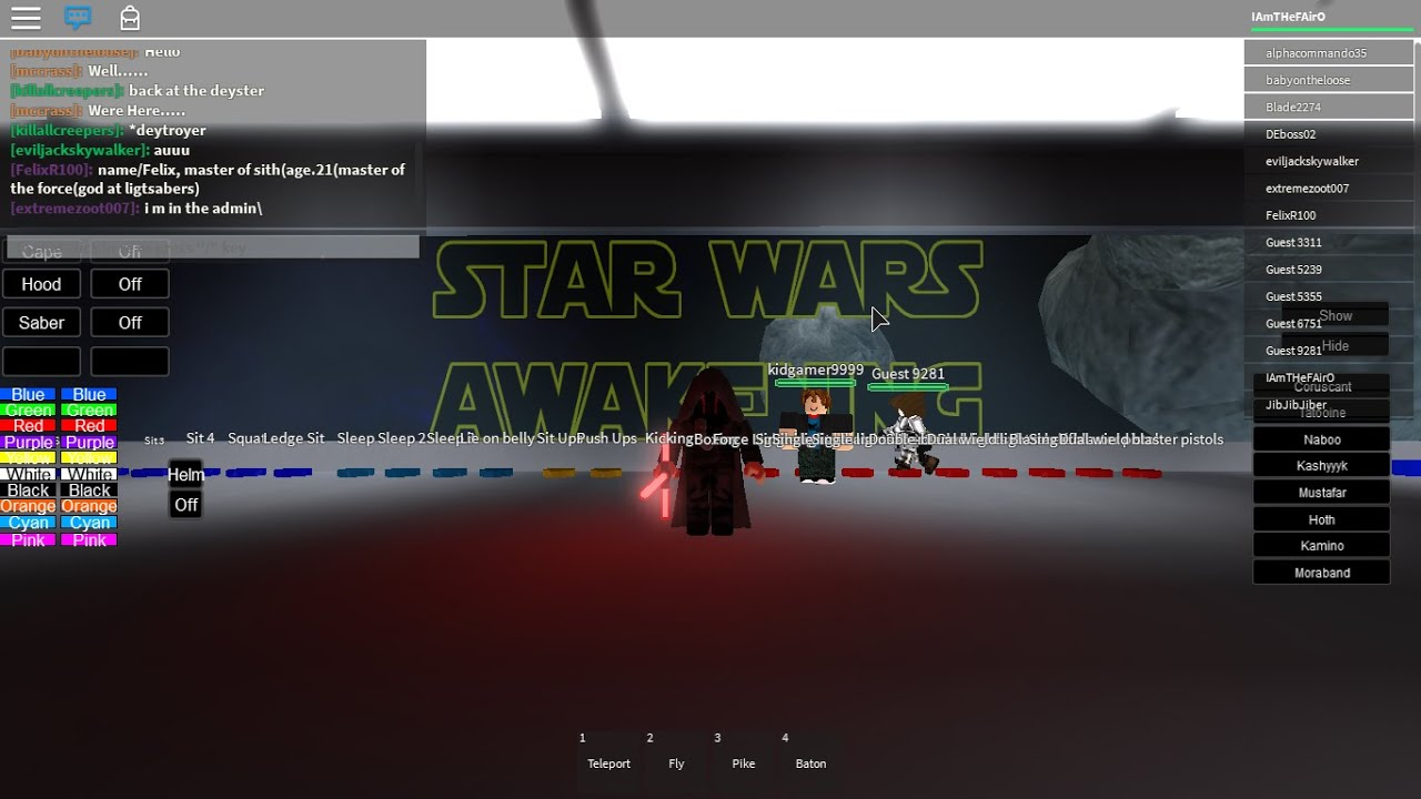 how to be kylo ren on roblox