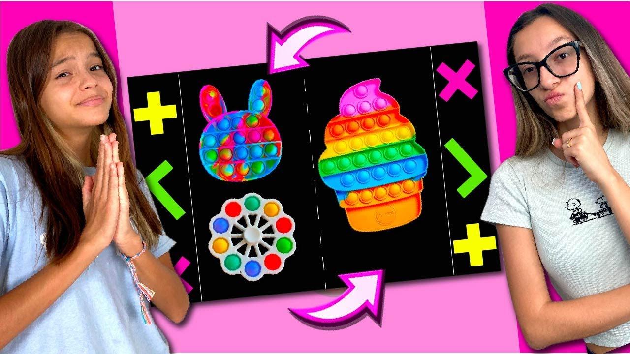 TROCA DE FIDGET TOYS COM MINHA AMIGA | TROCANDO FIDGET TOYS | POP IT!! Ft Family Fun 5 ❌  ✅