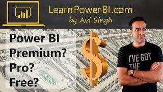 Power BI Premium vs Pro vs Free + How to save $$$