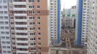видео: Вид на стройку с 14 этажа 15 корпуса (ул. Левобережная, 4)