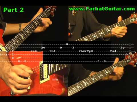 how to play young lust on guitar