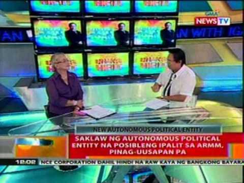 BT: Saklaw ng autonomous political entity na   posibleng ipalit sa ARMM, pinag-uusapan   pa