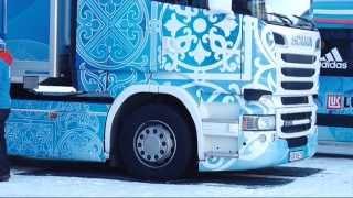 Грузовик для смазки лыж Scania для Федерации лыжных гонок России