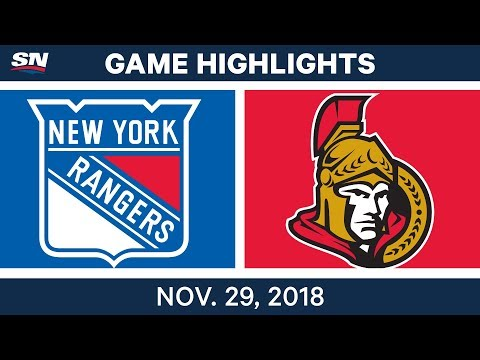 NHL Highlights | Rangers vs. Senators - Nov 29, 2018