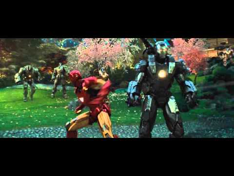 Iron Man and War Machine vs.  Hammer Drones - Iron Man 2