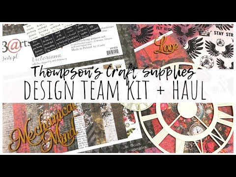 Thompson's Craft Supplies Design Team Kit + Haul | April/May 2020 | Ms.paperlover [ad]