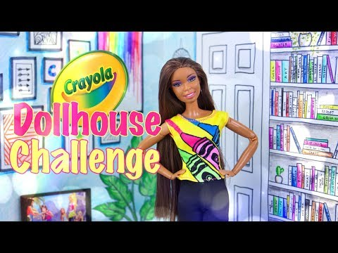 DIY - How to Make: Crayola Dollhouse Challenge |  Draw your own Dollhouse Craft