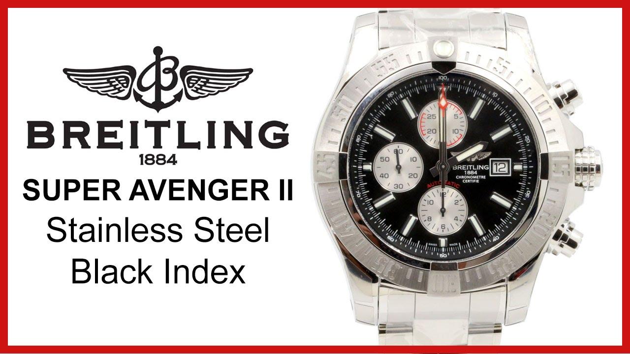 9e7eccf4d1c Breitling Super Avenger II Stainless Steel