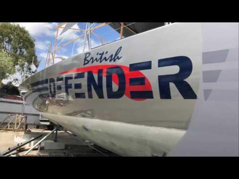 Tef-Gel used on Maxi Yacht British Defender, Keel Maintenance
