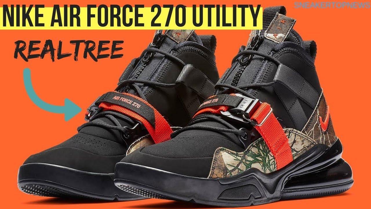 "3180f132de Nike Air Force 270 Utility ""Realtree Camo"" | air max 270 sneakers ..."