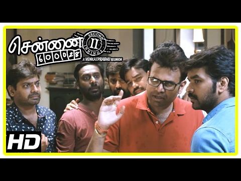 Chennai 600028 II Movie Scenes | Shanmugasundaram warns Police about Jai and friends | Shiva
