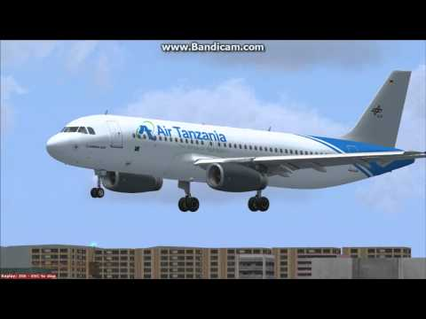 Air Tanzania Landing  Tower view.avi