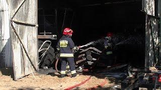 Pożar w Swarzewie. Spłonął magazyn maszyn rolniczych; Nadmorska Kronika Policyjna