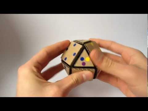 Ryan's Cardboard Skewb Cubeoctahedron - Handmade Rubik's Cube Type Puzzle