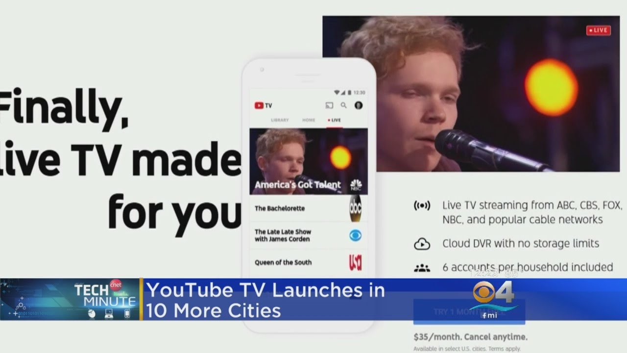 YouTube TV Launches In 10 More Cities