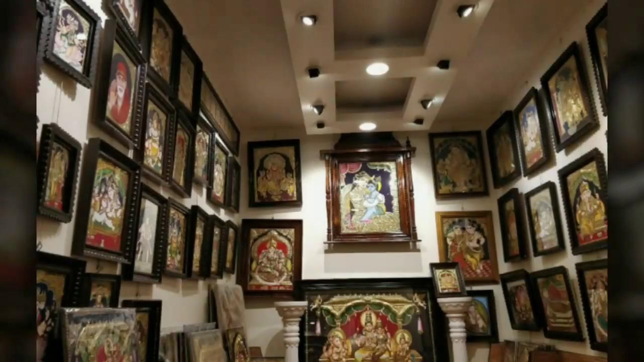 Tanjore Paintings    Thanjavur Painting of Krishna    Traditional Art    Tarang Art Gallery   