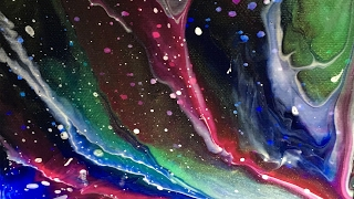 Outerspace Nebula Acrylic Pour  Painting My new secret obsession...